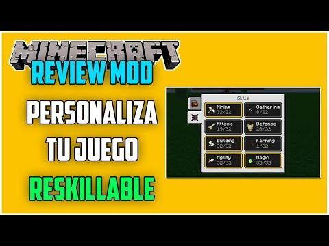 REVIEW !! RESKILLABLE - MOD Para MINECRAFT 1.12.2 - Personaliza Tu Juego [#19]