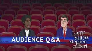 Colbert Takes Questions From The Audience