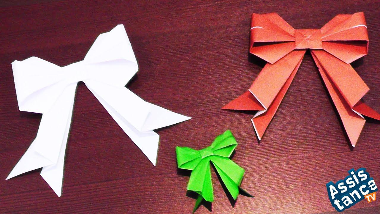 Как сделать бант на елку из бумаги