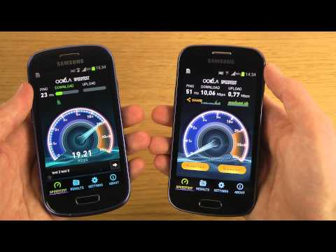 Samsung Galaxy Trend vs. Samsung Galaxy S3 Mini - Internet Speed Test