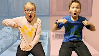 BRO vs SIS! Make a Mess Challenge