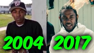 The Evolution of Kendrick Lamar (2004-2017)