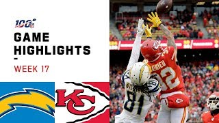 Chargers vs. Chiefs Week 17 Highlights | NFL 2019