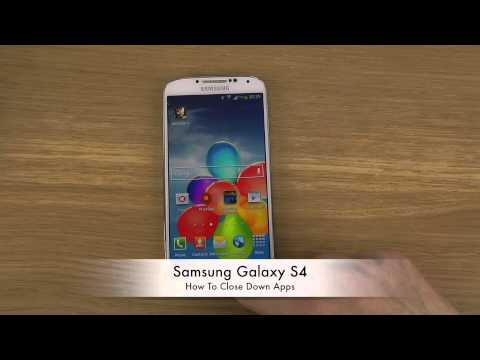How To Close Down Apps Samsung Galaxy S4