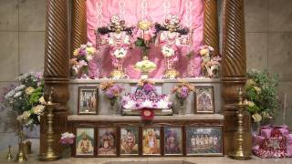 2011.10.08. Guru Puja, Srila Prabhupada, Gaura-Nitai & Radha Damodar - Riga, Latvia