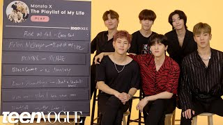 Monsta X Creates The Playlist of Their Lives | Teen Vogue