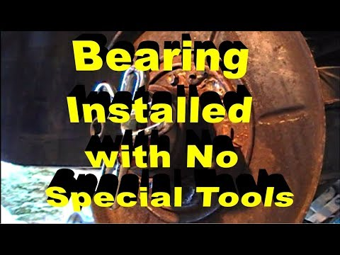 Rear Wheel Bearing Installation With No Special Tools BMW 325i