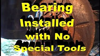 Rear Wheel Bearing Installation With No Special Tools BMW 3 Series