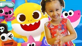 BABY SHARK | CANTE E DANCE! | CANÇÕES ANIMAIS | MÚSICA INFANTIL | KIDS | Bia e henry
