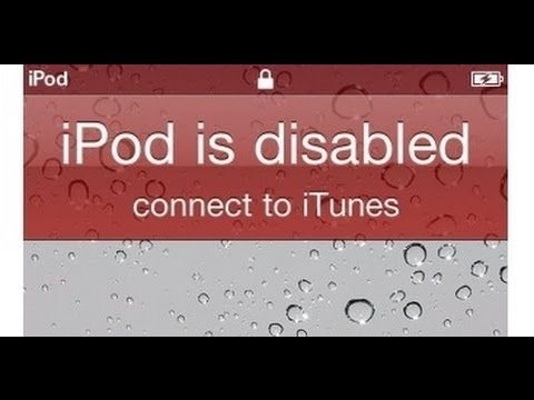 iPhone iPad iPod touch is disabled reset password if you forgot it. - Fix iPhone iPod iPad Disabled