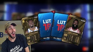 ALL PRO AND PRO PACK OPENING IN NBA LIVE 18 ULTIMATE TEAM!!