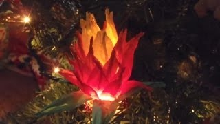 Lotus Flower Paper Christmas Ornament