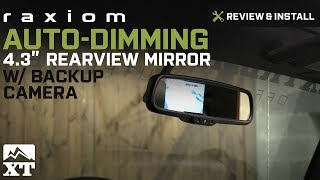 "Wrangler Raxiom Auto-Dimming 4.3"" Rearview Mirror w/ Backup Camera (2007-2017 JK) Review & Install"