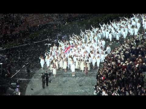 London 2012 Olympics Opening Ceremony - Team GB enter the Olympic Stadium