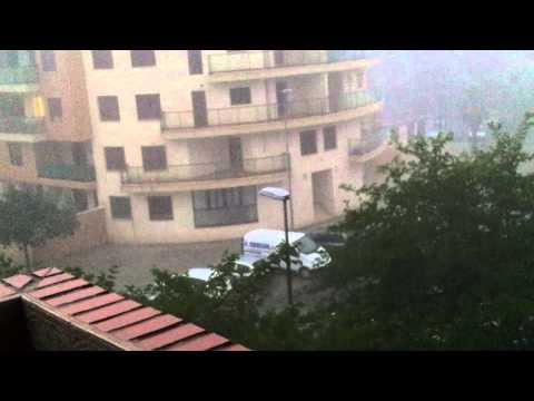Chubasco intenso en Aldaya (Valencia)