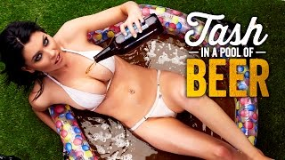 Tash Collins in a pool of beer! Has a sweeter sentence ever been spoken? | ZOO Brunettes
