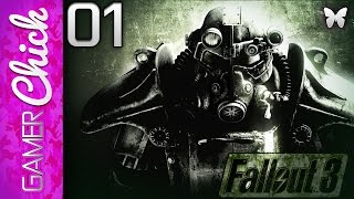 ❋ Fallout 3 - Gameplay/Lets Play - [Part 1 Vault 101] (Xbox360) w/ GamerChick