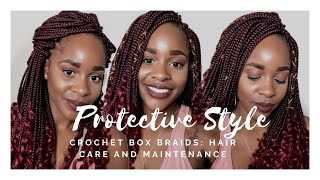 Protective Style   Crochet Box Braids   Style Maintainance and Care