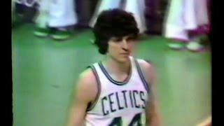 Pistol Pete Maravich - Last game of his NBA career, rookie Larry Bird