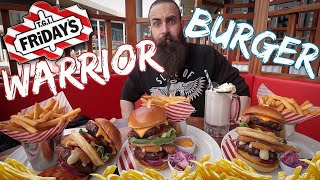 THE TRIPLE TGI FRIDAY'S WARRIOR BURGER CHALLENGE | The Chronicles of Beard Ep.62