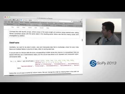 Statistical Data Analysis in Python, SciPy2013 Tutorial, Part 1 of 4
