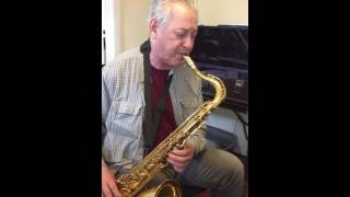 Jazz Sax Improv Lesson - Student Improvising on a 16th rhythm