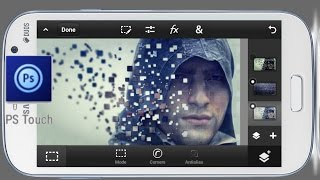 Ps Touch | Disintegration of Pixels | Photoshop Touch tutorial (mobile)