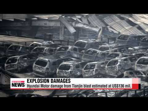 Thousands of vehicles destroyed in Tianjin explosion   현대차, 중국 톈진항 피해 최대 1천600여억