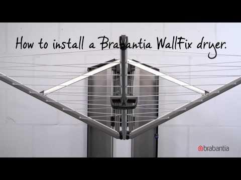 Brabantia WallFix   How to use and install Brabantia WallFix for easy laundry drying   Brabantia  