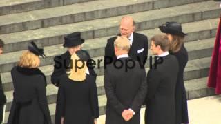Queen Elizabeth II, Mark Thatcher, Carol Thatcher and Ama...