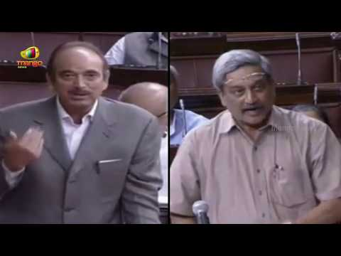 Congress Ghulam Nabi Azad Vs Manohar Parrikar over Pakistan ceasefire violations