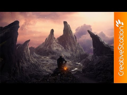 The twilight mountains - Speed art (#Photoshop) | CreativeStation