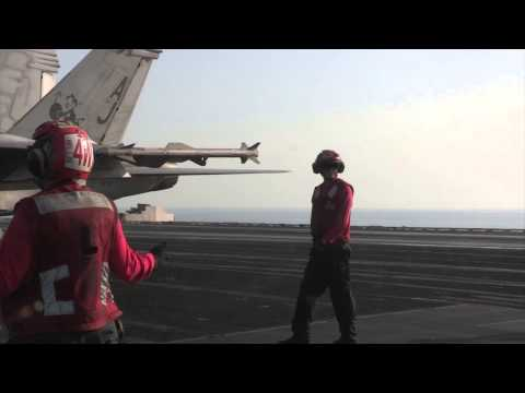 F/A-18 Hornets aboard USS George H.W. Bush (CVN 77) continue to combat ISIL