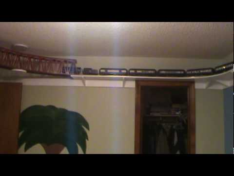 Model Train Shelf Around The Room Youtube