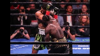 Deontay Wilder Vicious First Round Knock Out vs. Dominic Breazeale