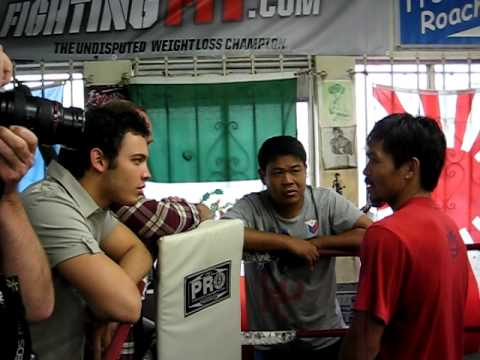 Julio Cesar Chavez Jr Visit Manny Pacquiao at the Wildcard Gym Before Joshua Clottey Fight Video