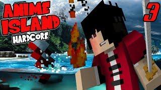 THE UNEXPECTED THREAT!    Hardcore Anime Island Modpack Episode 3 (Minecraft Hardcore Island)