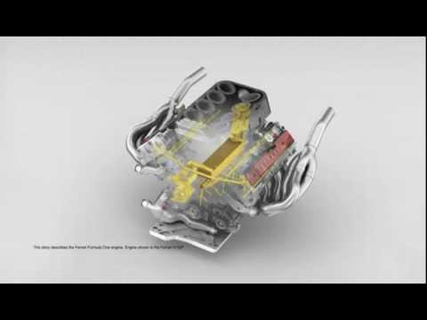 Extreme Oil flow through a Ferrari V8 engine