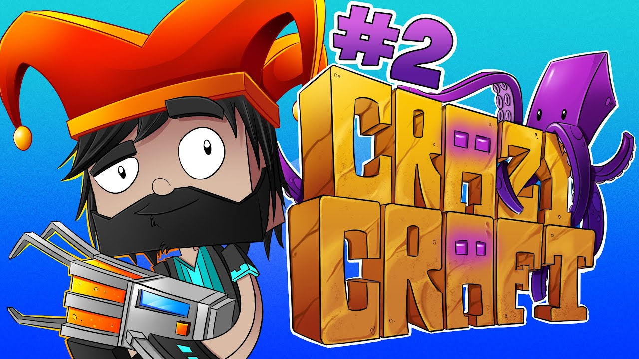 Minecraft crazy craft ep 2 he burned my ship youtube