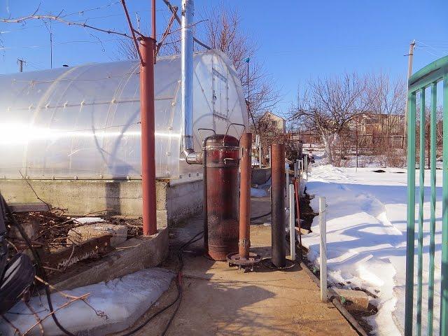 Печь с водяным обогревом для отопления теплиц