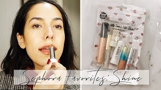 NEW💥Spring 2019 SEPHORA FAVORITES GIVE ME SOME LIP SHINE SET Try On/Swatch Review First Impression