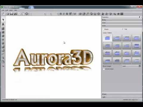 3D Text Creator -  Aurora 3D Text & Logo Maker