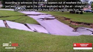 ANOTHER MASSIVE SINKHOLE APPEARS IN MIAMI FLORIDA (SPRING HILL) JULY 21, 2014