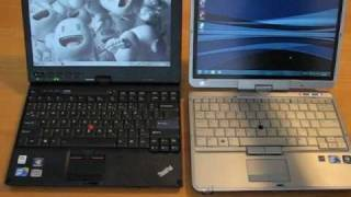 HP 2740p vs Lenovo x201 tablet Hands-on Comparison