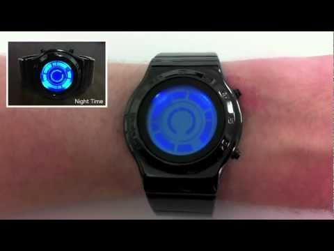 Kisai Rogue SR2 Blue Hybrid LCD LED Watch Design From Tokyoflash Japan
