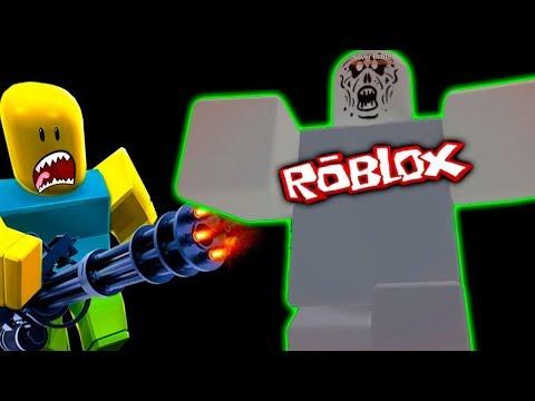 Новая пушка Приключения мультик героя ROBLOX против армии зомби видео для детей #fgtv