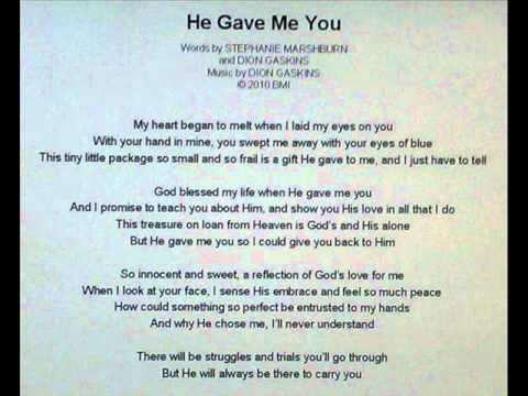 God gave me you christian song
