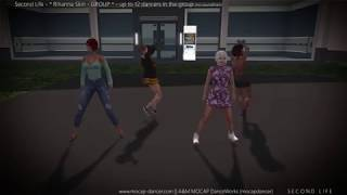 SL - Rihanna Skin GROUP - dance set for Second Life