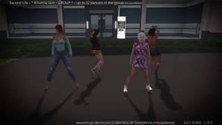 SL - Rihanna Skin GROUP - dance set for Second Life