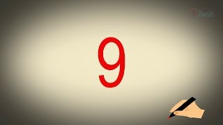 Learn how to write number 9(NINE), Kids preschool learning, Kindergarten learning.